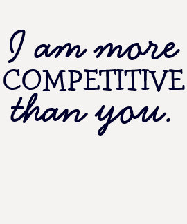 """Soy más competitivo que usted"" camiseta Remera"