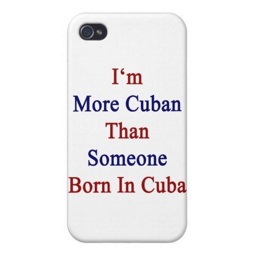 Soy más cubano que alguien nacida en Cuba iPhone 4 Protectores