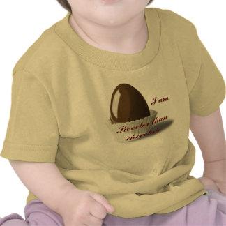 Soy más dulce que el chocolate camiseta