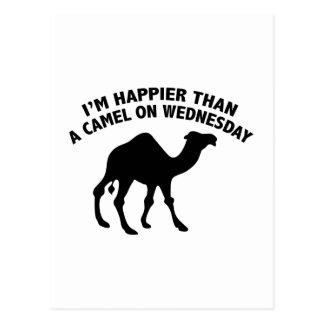 Soy más feliz que un camello el miércoles postales
