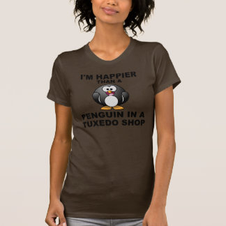 Soy más feliz que un pingüino en una tienda del tshirt