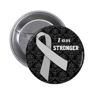 Soy más fuerte que el ms pin redondo de 2 pulgadas