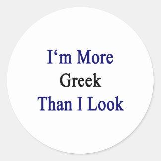 Soy más griego que miro pegatina redonda