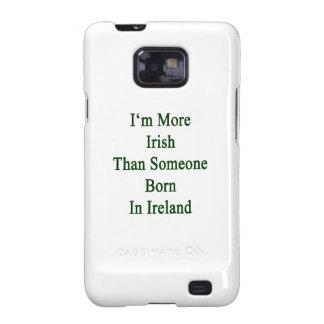 Soy más irlandés que alguien nacida en Irlanda Samsung Galaxy SII Funda