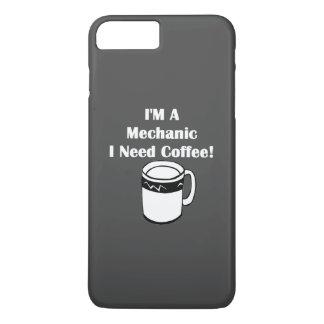 ¡Soy mecánico, yo necesito el café! Funda iPhone 7 Plus