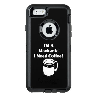 ¡Soy mecánico, yo necesito el café! Funda OtterBox Defender Para iPhone 6