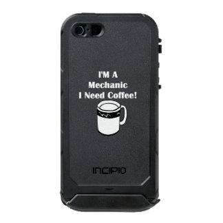 ¡Soy mecánico, yo necesito el café! Funda Para iPhone 5 Incipio ATLAS ID