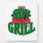 Soy Meets Grill Mouse Pad