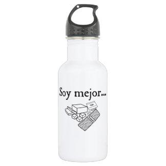 Soy mejor… (soy) water bottle