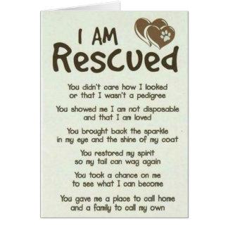 Soy mejor tarjeta rescatada del papá del perro