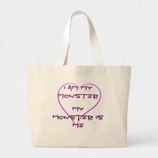Soy mi bolso del monstruo bolsa tela grande