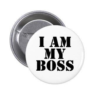 Soy mi Boss. Lema Pin Redondo De 2 Pulgadas