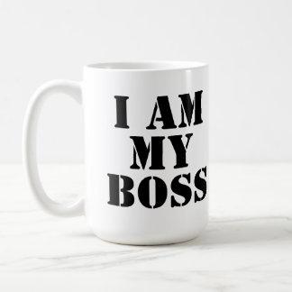 Soy mi Boss. Lema Taza Básica Blanca