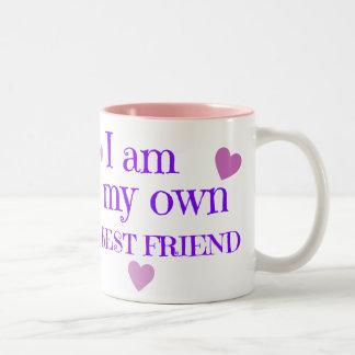 Soy mi mejor amigo taza de dos tonos