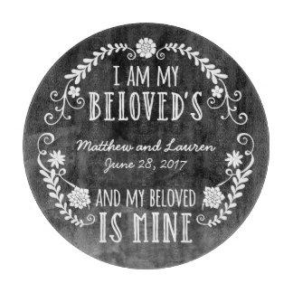 Soy mi querido, casando la acuarela negra tablas para cortar