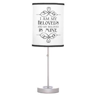 Soy mi querido y mi querido es el mío cita lámpara de mesa