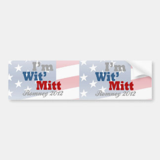 Soy mitón de Wit, Favorable-Mitón divertido Romney Pegatina Para Auto