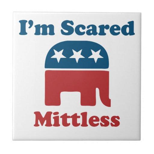 Soy Mittless asustado Azulejo Cuadrado Pequeño