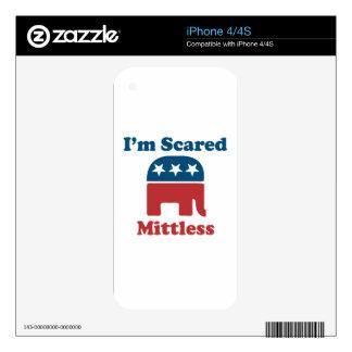 Soy Mittless asustado Calcomanías Para El iPhone 4