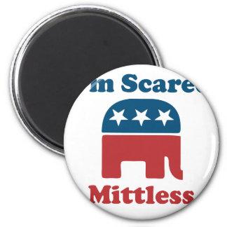 Soy Mittless asustado Imán Redondo 5 Cm