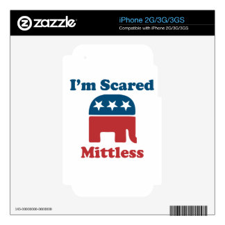 Soy Mittless asustado iPhone 3GS Calcomanías
