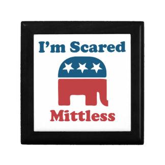 Soy Mittless asustado Joyero Cuadrado Pequeño