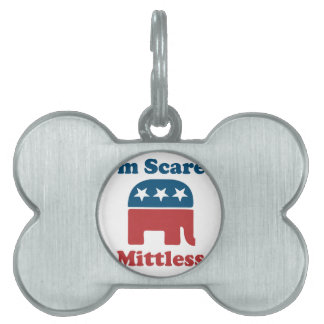 Soy Mittless asustado Placas De Nombre De Mascota