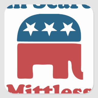 Soy Mittless asustado Pegatina Cuadrada