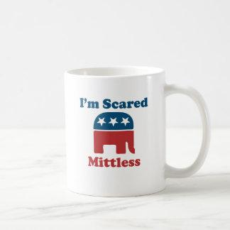 Soy Mittless asustado Taza Básica Blanca