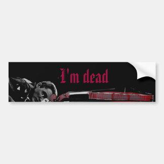 Soy muerto pegatina para auto