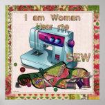 Soy mujer me oigo coser poster