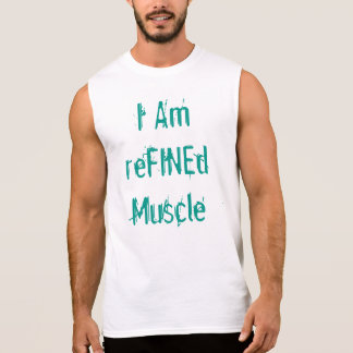 Soy músculo refinado camisetas sin mangas