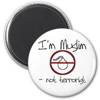 Soy musulmán - no terrorista imán redondo 5 cm