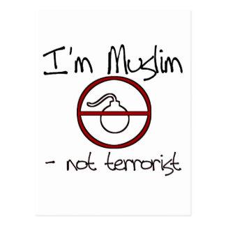 Soy musulmán - no terrorista tarjetas postales