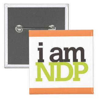 Soy NDP Pin Cuadrado