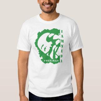soy NEDA Irán y camiseta verde de la parte Playera