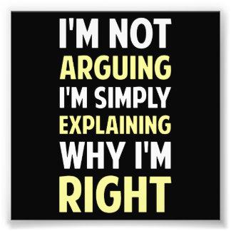 Soy no discutiendo yo estoy explicando fotografías