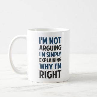 Soy no discutiendo yo estoy explicando taza básica blanca