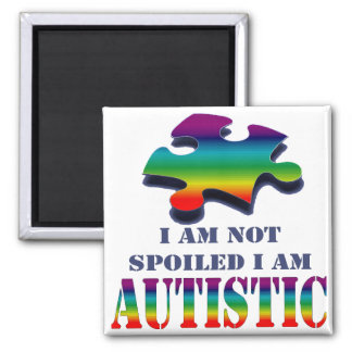 Soy no estropeado yo soy autístico imán de frigorífico