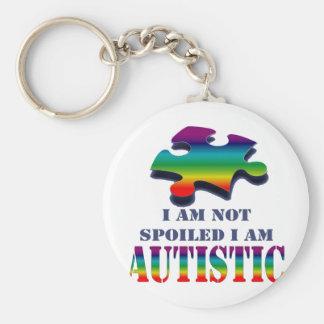 Soy no estropeado yo soy autístico llaveros personalizados