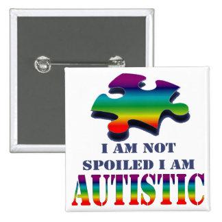 Soy no estropeado yo soy autístico pin cuadrada 5 cm