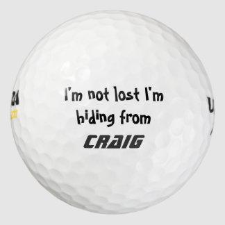 Soy no perdido yo estoy ocultando de añado su pack de pelotas de golf