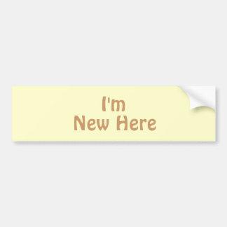 Soy nuevo aquí. Moreno ligero Brown. Personalizado Pegatina Para Auto