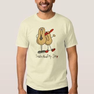 Soy Nuts sobre mi figura camiseta del palillo del Playera