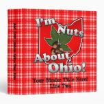 """Soy Nuts sobre Ohio, nuez divertida del castaño de Carpeta 1 1/2"""""""