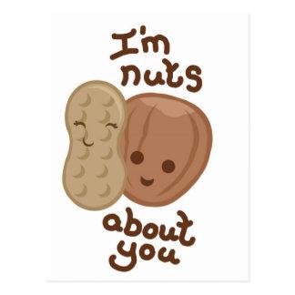 Soy nuts sobre usted tarjeta postal