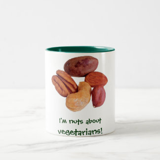 ¡Soy nuts sobre vegetarianos! Taza Dos Tonos