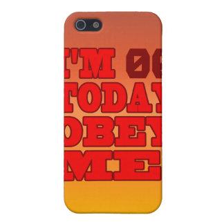 Soy - ¡Obedézcame! Plantilla divertida del cumplea iPhone 5 Cárcasas