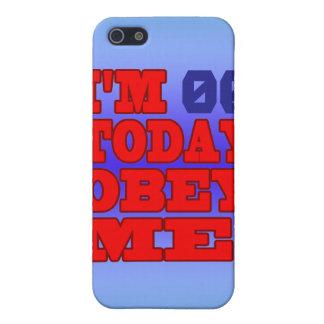 Soy - ¡Obedézcame! Plantilla divertida del cumplea iPhone 5 Cárcasa