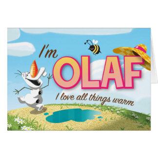 Soy Olaf yo amo todas las cosas calientes Tarjetas